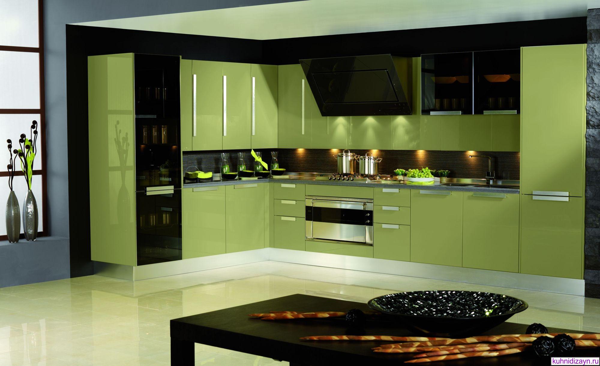Кухни зеленого цвета, зеленая кухня на заказ, мебель и гарни.