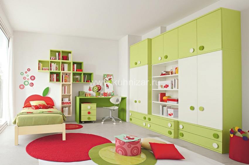 Комната для двух детей- зонирование